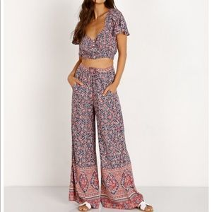 Spell & the Gypsy Jasmine pants and top set Sz Sm